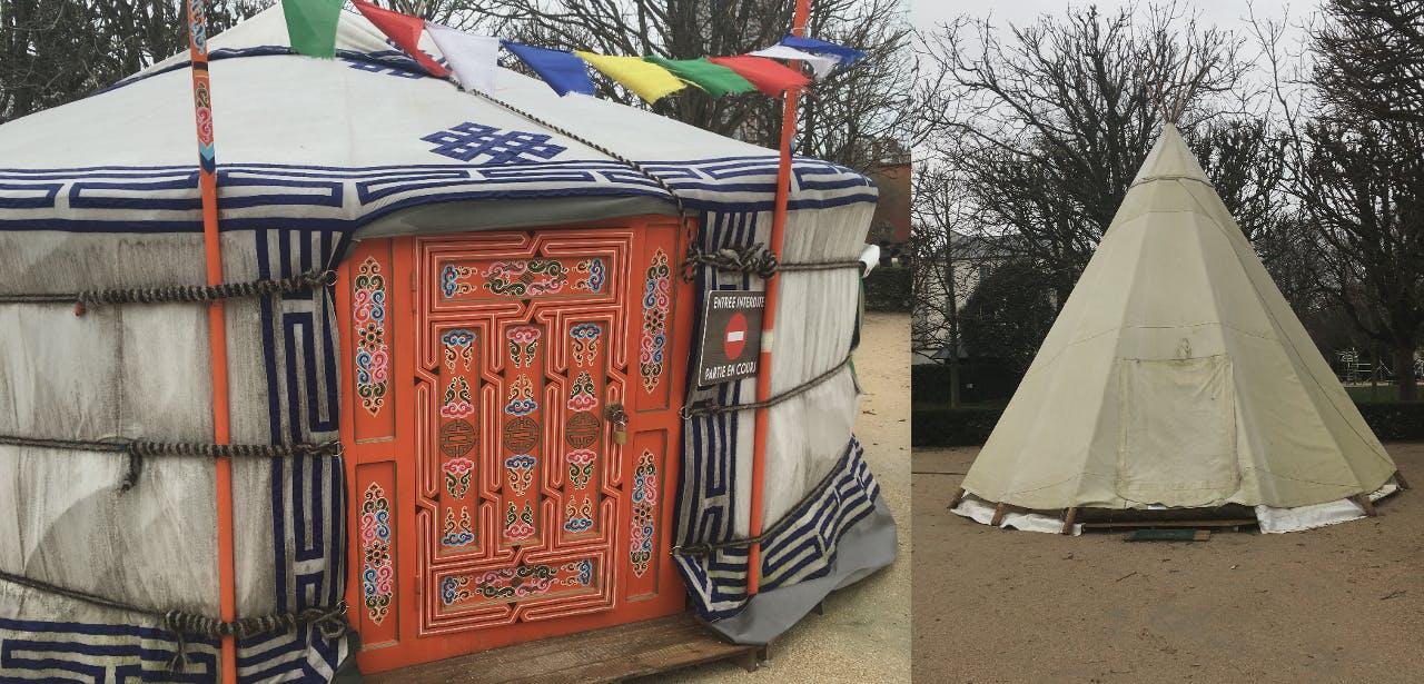 « La yourte d'Alagh » et « Le tipi de Tokela » sont jouables jusqu'à la fin du mois de mars au parc de Choisy.