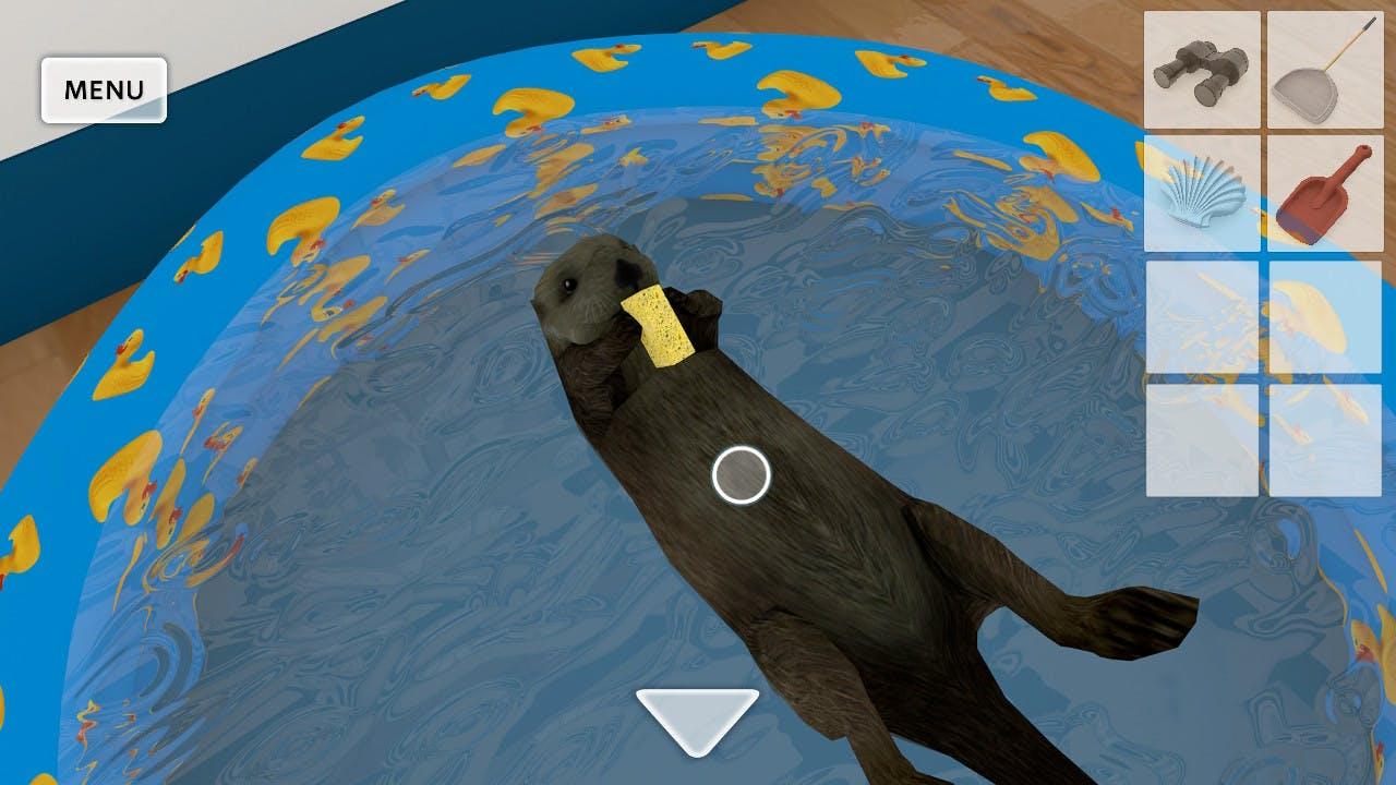 Screenshot d'une loutre dans le jeu Aloha